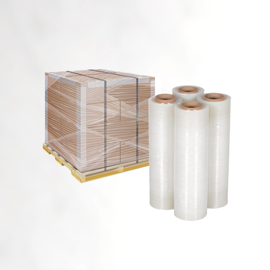 PE film wrapped Pallet