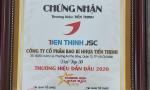 """TIẾN THỊNH """" TOP 50 THƯƠNG HIỆU DẪN ĐẦU VIỆT NAM  – VIETNAM LEADING  BRADNDS 2020″"""